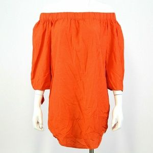 Old Navy Orange Off the Shoulder Shift Sundress PM